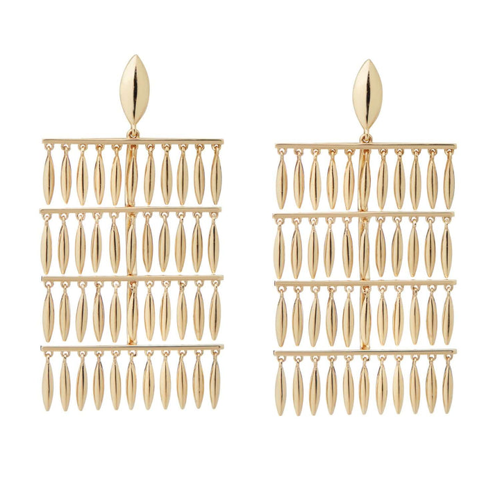 Grass Raining Drops Earrings Y