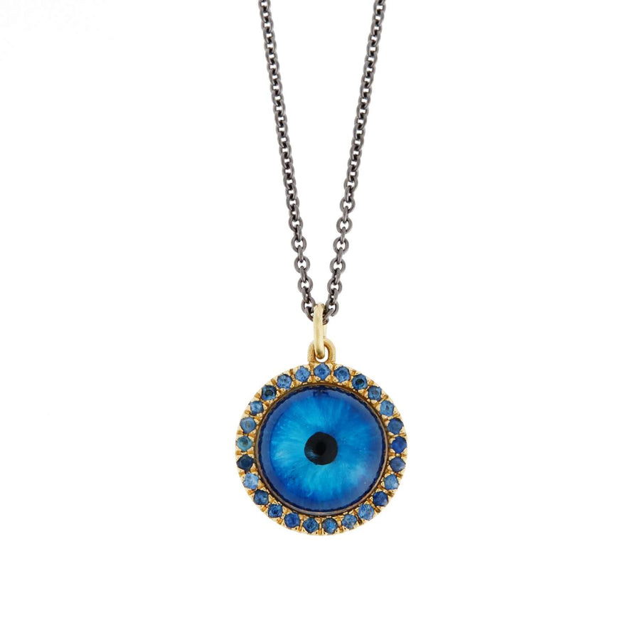 Deep Blue Glass Evil Eye P-BS