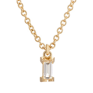 Baguette Single Drop Necklace Y-D