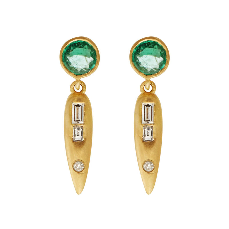 Grass Beam Earrings Y-D-EM
