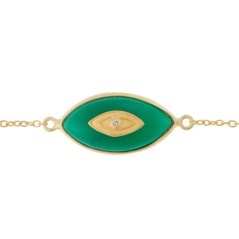All Seeing Green Round Eye Bracelet