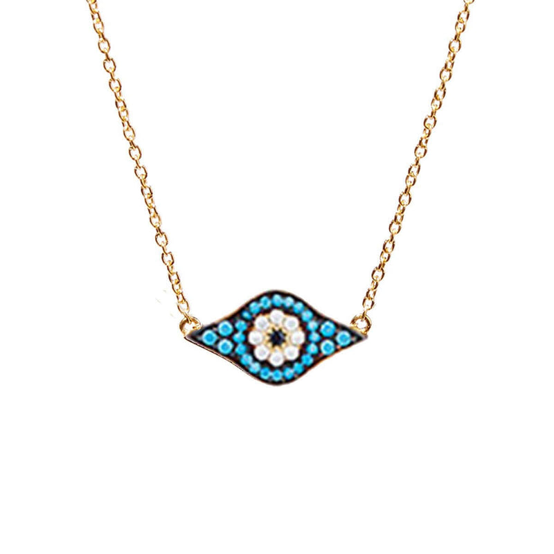 Kitten Eye Necklace - Blue