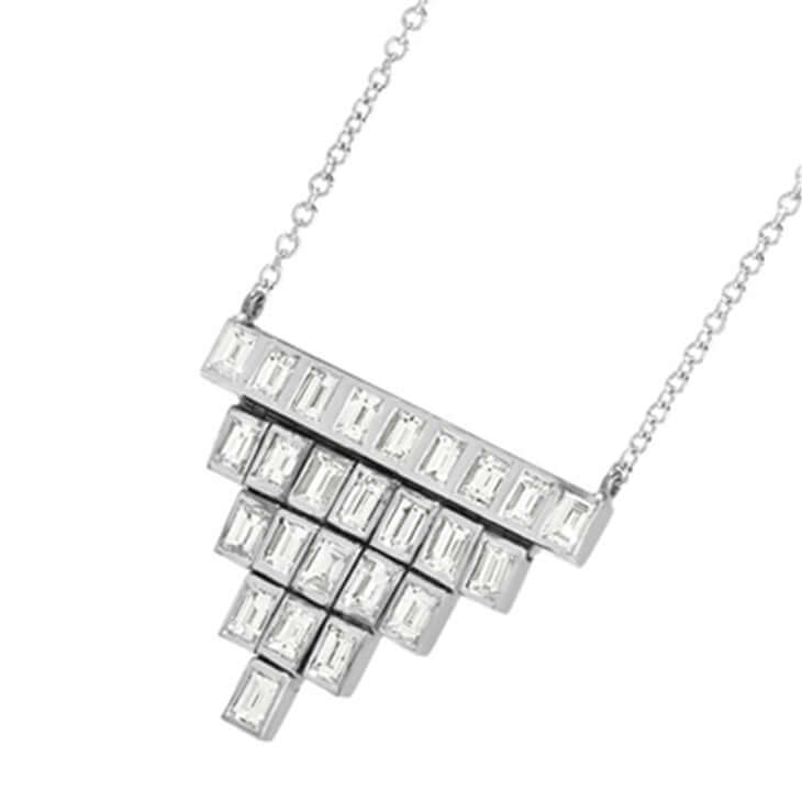 Pyramid Baguette Necklace W-D