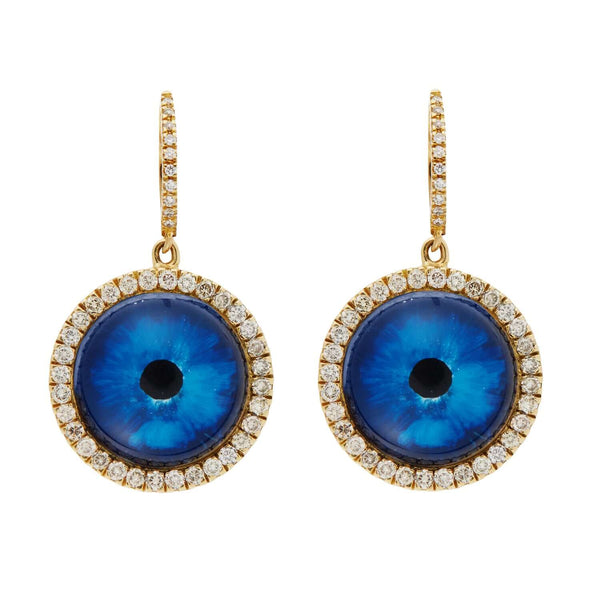 Deep Blue Eye Earrings L