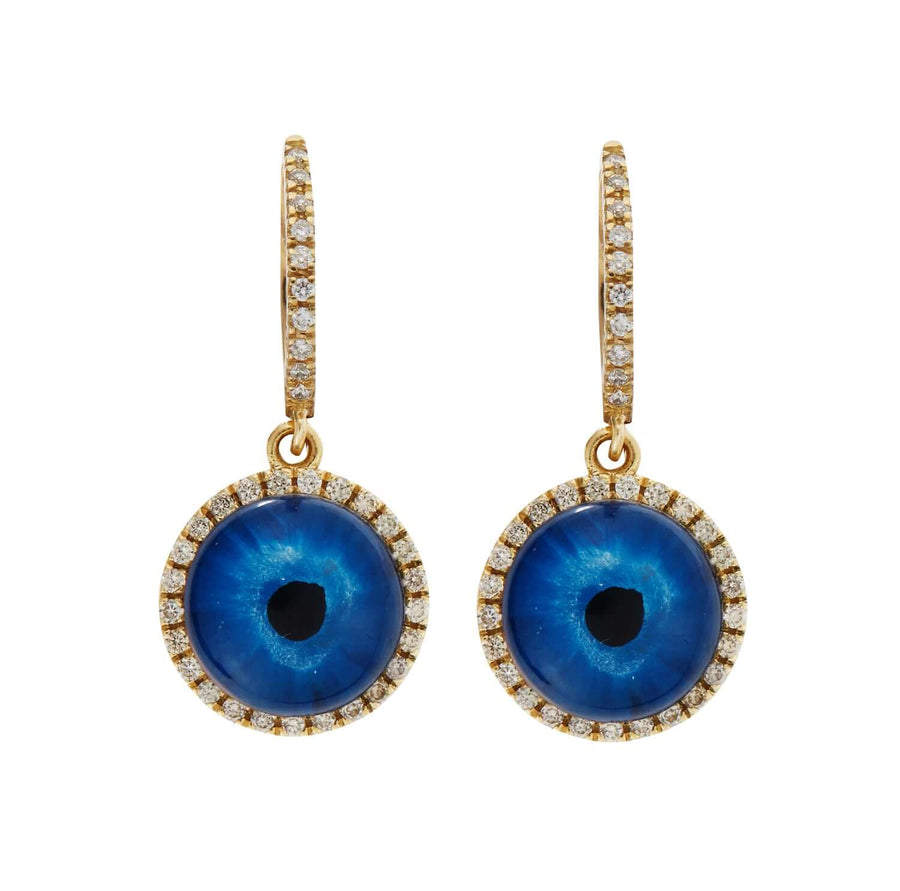 Deep Blue Eye Earrings S