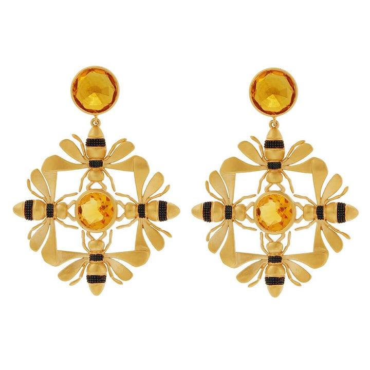 Kaleidoscope Bee Earrings