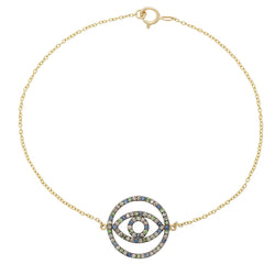Diamond Circle Eye Bracelet Y-Chd-Ts-Bs