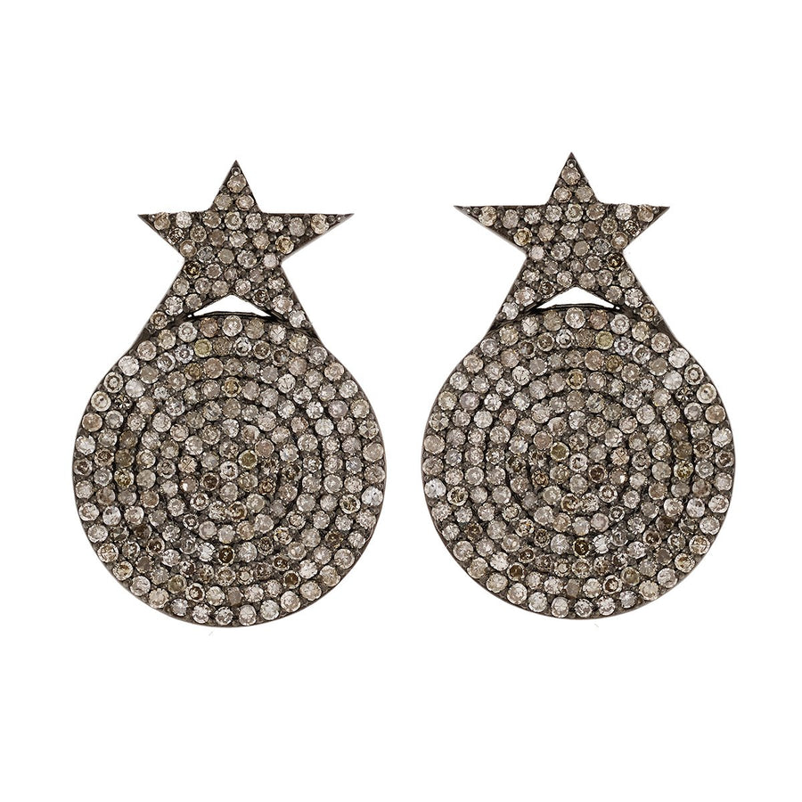 Star Disc Earrings
