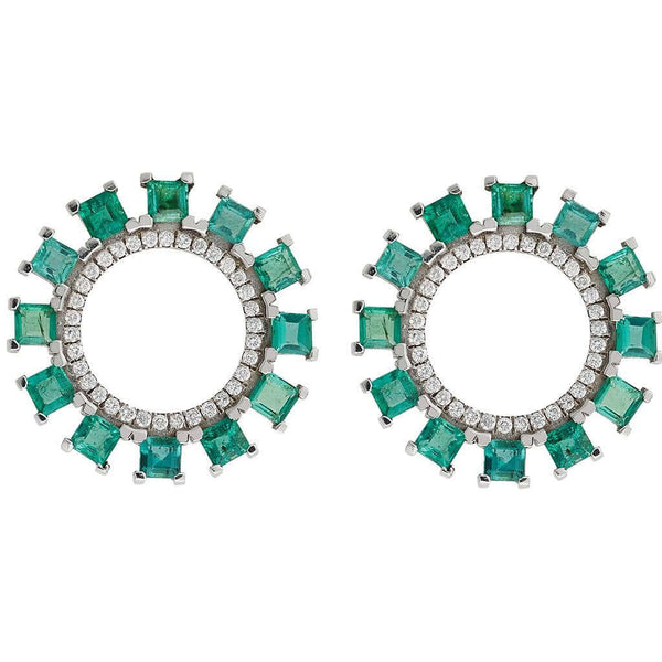 Emerald Sun Earrings Y-TTLB-Em