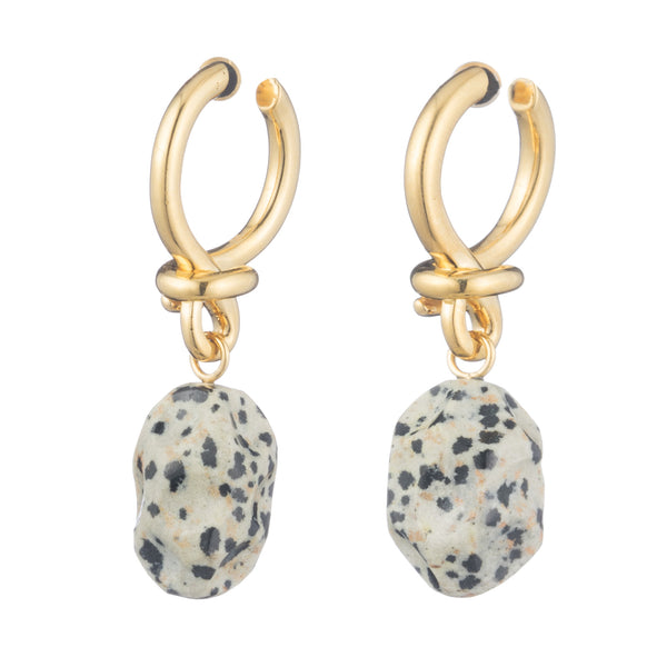 Yellow Gold K2 Earrings