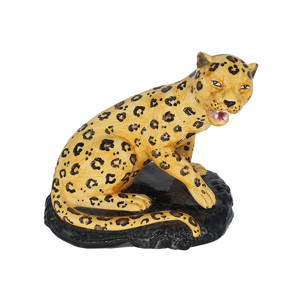 MENAGERIE OTTOMANE Leopard Couple Decoration