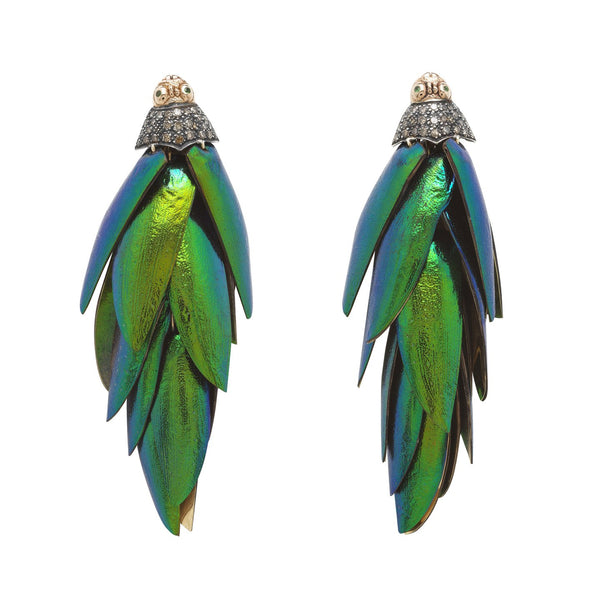 Scarab Bunch Earrings
