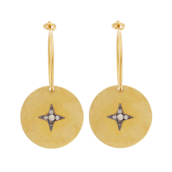 Star Disc Hoops