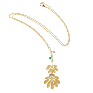 Tropical Double Leaf Necklace