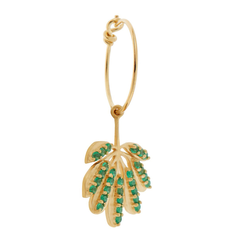 Tropical Leaf Mini Hoops