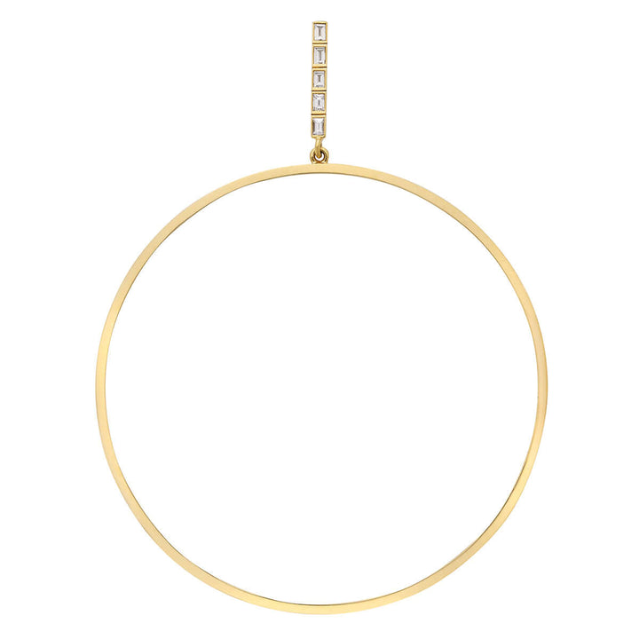 XL Baguette Bar Hoops Y-D