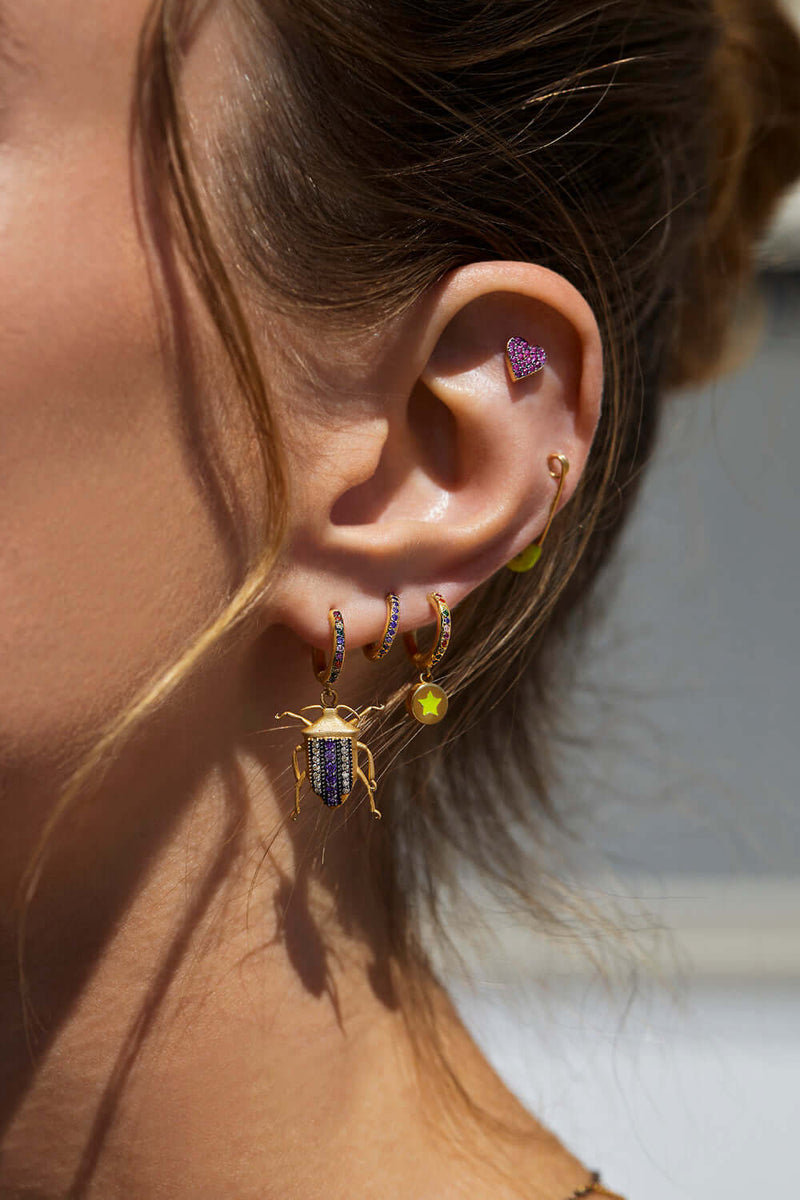 Rainbow Beetle Midi Hoops