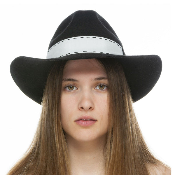 Black Shadow Wool Hat
