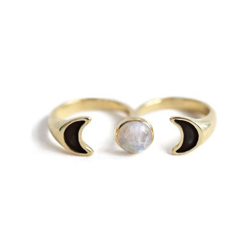 Double Luna Ring