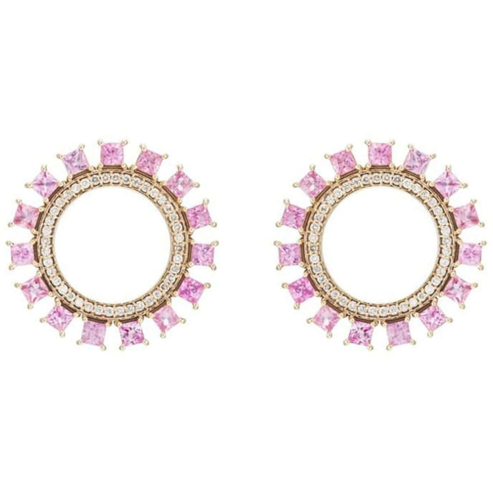 Pink Sun Earrings W-D-PS