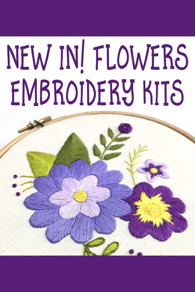 New In! Flowers Embroidery Kits