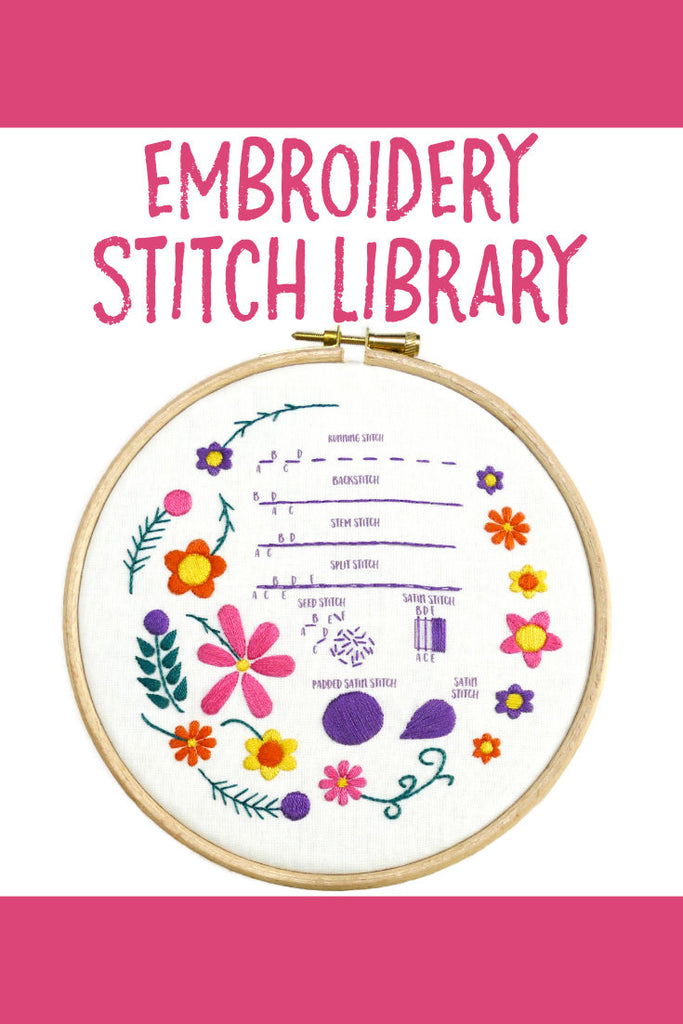 Embroidery Stitch Library - Basic Stitches