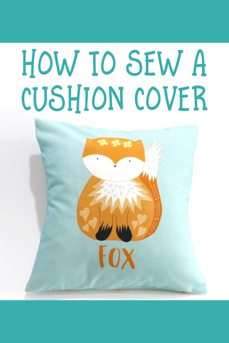 How to sew a cushion cover