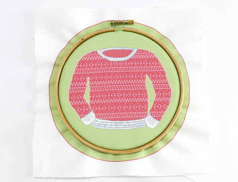 Embroidery Tutorial - How to start embroidery hoop step 6