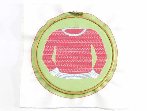 Embroidery Tutorial - How to start embroidery hoop step 9