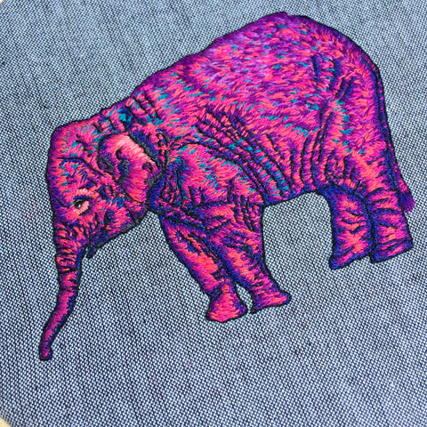 Embroidery Art, Wild Stitching, Elephant