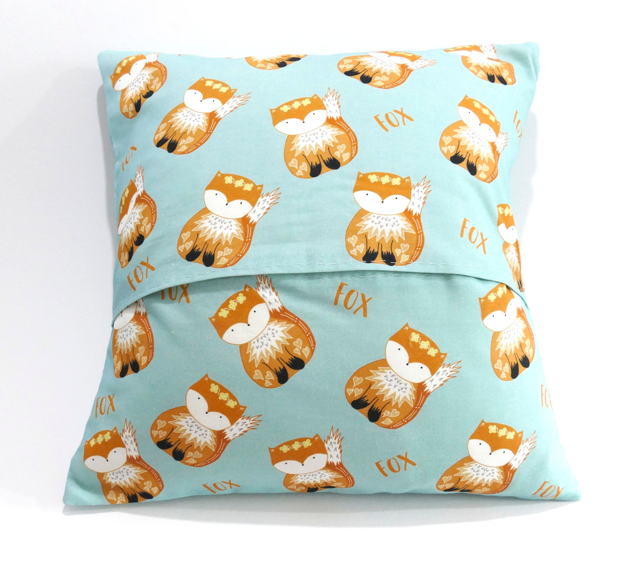 Back of the fox cushion cover sewing kit