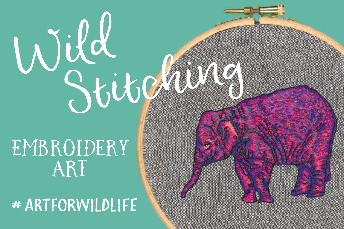 Wild Stitching Embroidery Art #Art For Wildlife