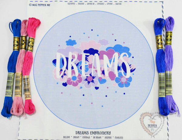 Dreams Hand Embroidery Kit Threads