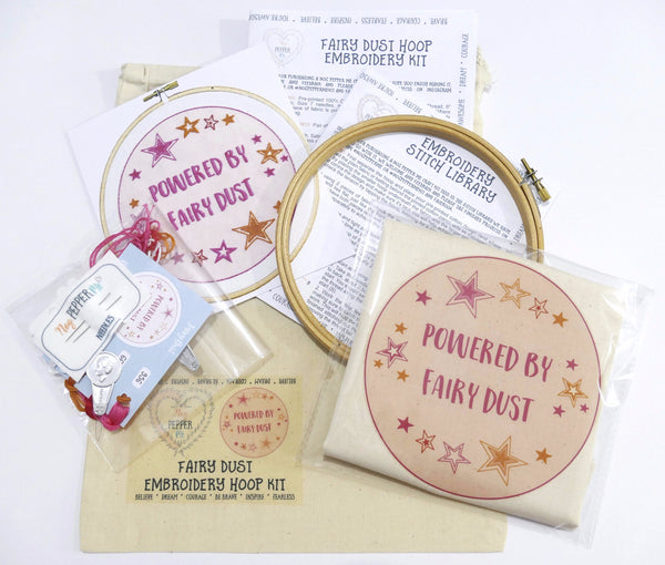 Fairy Dust Embroidery Kit Contents
