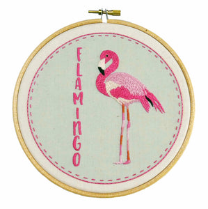 Flamingo Hand Embroidery Kit