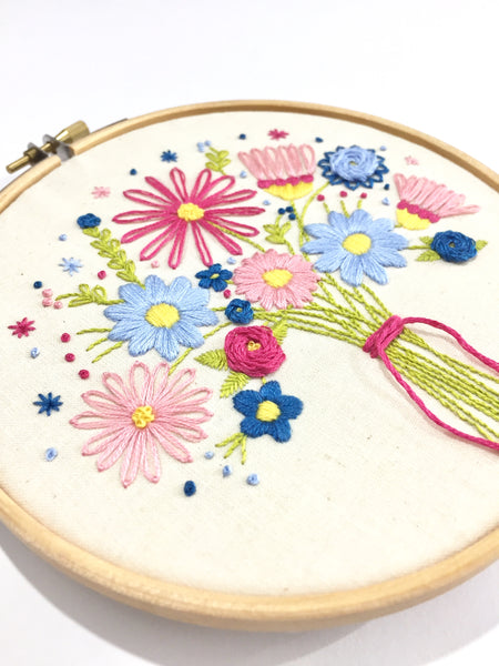Flowers Bouquet Embroidery Kit