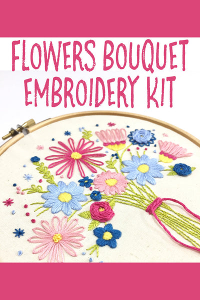 Nog Pepper Me Flowers Bouquet Embroidery Kit
