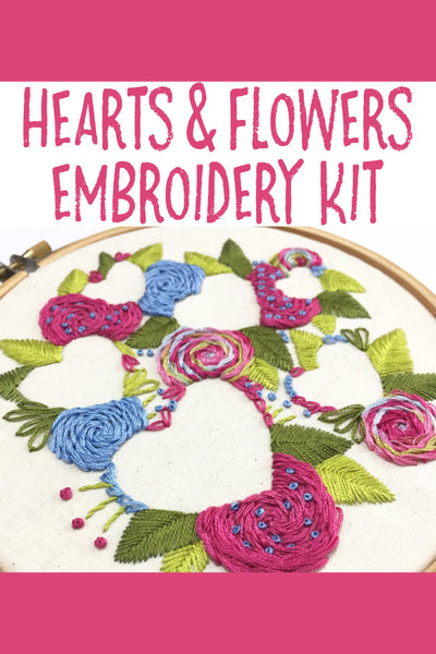 Nog Pepper Me Hearts and Flowers Embroidery Kit