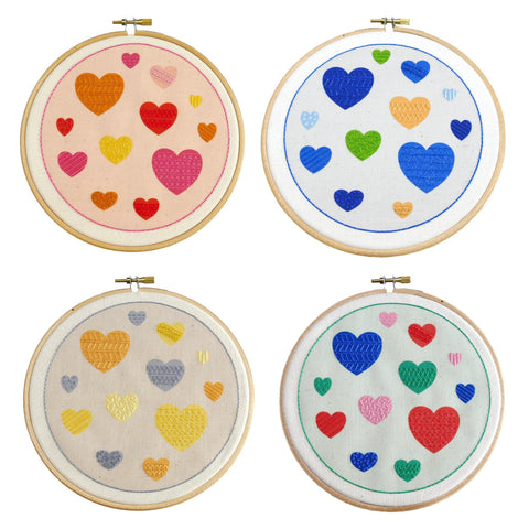 Hearts Embroidery Kit