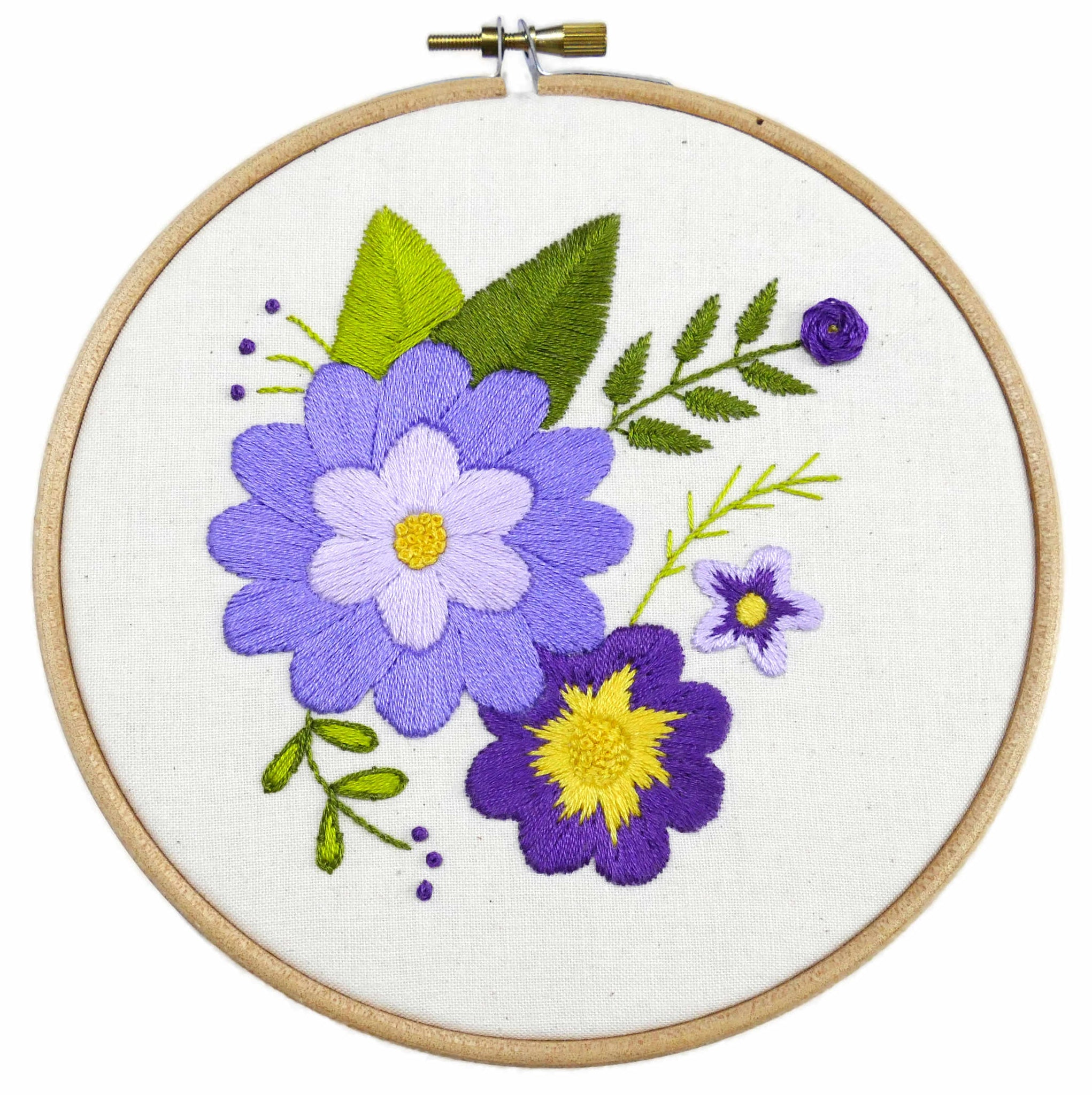 Lilac Flowers Embroidery Kit