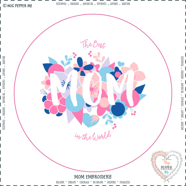 Mom Embroidery Kit Panel Mothers Day Gift