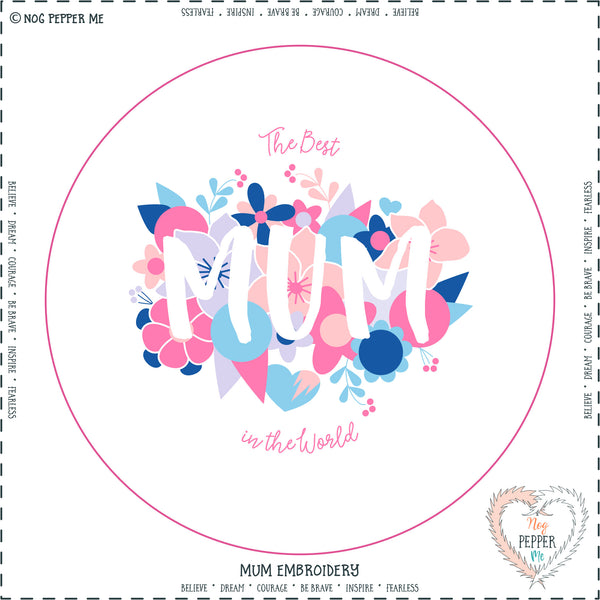Mum Embroidery Kit Panel Mothers Day Gift