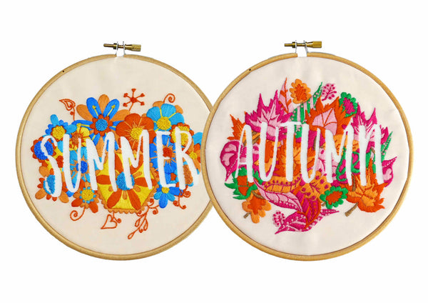 Summer and Autumn Four Seasons Embroidery Kits