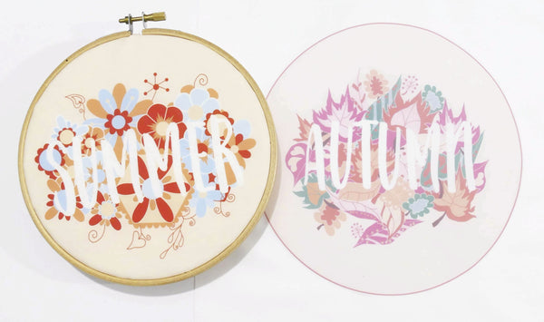 Summer and Autumn Modern Embroidery Kit Four Seasons