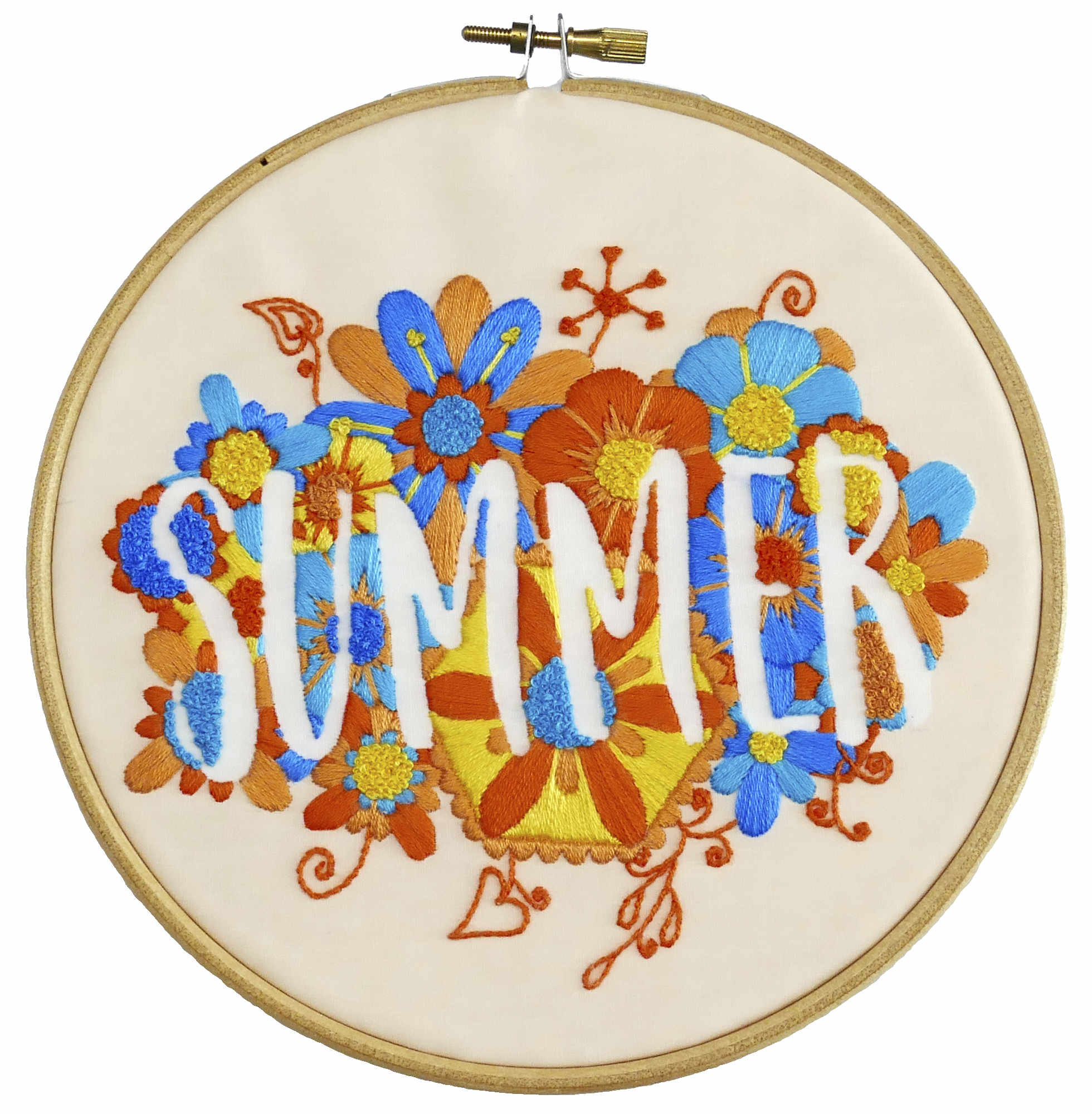 Summer Modern Embroidery Kit Four Seasons