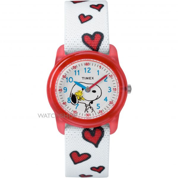 Timex Childrens Kids Analog x Peanuts Snoopy Hearts Watch