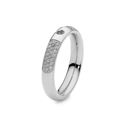 Qudo Stainless Steel Slim Deluxe Ring