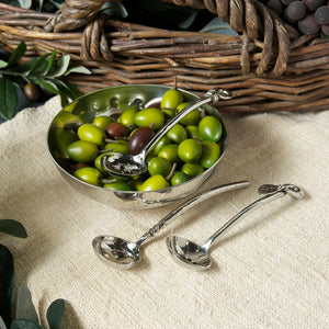 Culinary Concepts olive bowl & polished knot spoon set
