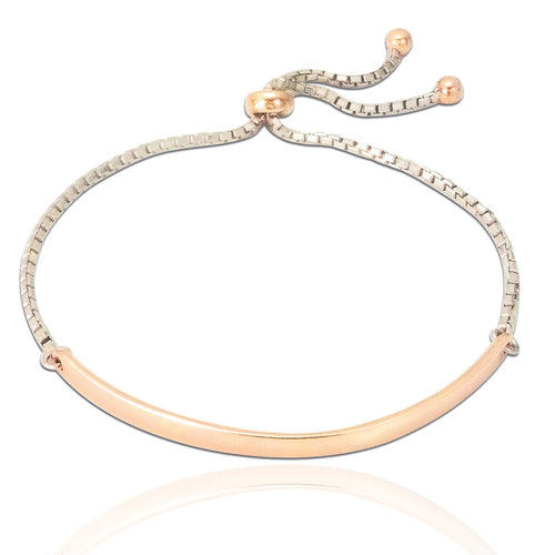 Alessandra Adjustable Bracelet - Rose Gold
