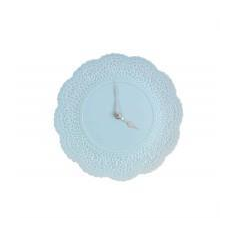 Blue Ceramic Doily Wall Clock 28cm
